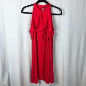 Red Ruffle Cocktail Dress